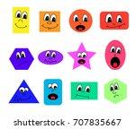 funny cartoon shape faces | Shutterstock .eps vector #707835667