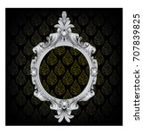silver vintage frame isolated... | Shutterstock .eps vector #707839825