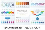 collection of eight vector... | Shutterstock .eps vector #707847274