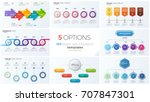 collection of eight vector... | Shutterstock .eps vector #707847301