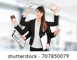 Multitask Business Woman With...