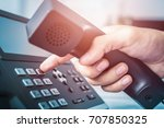 communication support  call... | Shutterstock . vector #707850325