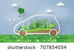 concept of environmentally... | Shutterstock .eps vector #707854054