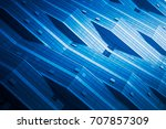 full frame of patterned wall... | Shutterstock . vector #707857309