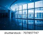 modern building corridoe with... | Shutterstock . vector #707857747