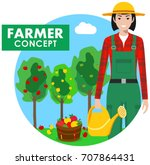 farmer concept. detailed... | Shutterstock .eps vector #707864431