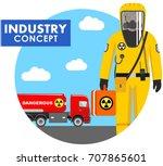 industry concept. detailed... | Shutterstock .eps vector #707865601