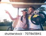 beautiful young couple is... | Shutterstock . vector #707865841