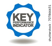 key performance indicator gear... | Shutterstock .eps vector #707866651