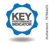 key performance indicator gear... | Shutterstock .eps vector #707866651