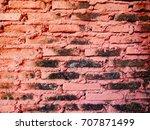 red brick wall. | Shutterstock . vector #707871499