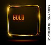shining square golden frame on... | Shutterstock .eps vector #707875591