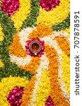 flower rangoli for diwali or... | Shutterstock . vector #707878591