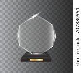 transparent realistic blank... | Shutterstock .eps vector #707880991