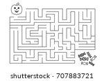 labyrinth for children.... | Shutterstock .eps vector #707883721