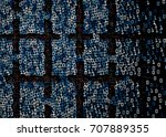 generative block chain shape... | Shutterstock .eps vector #707889355