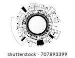 vector communication concept... | Shutterstock .eps vector #707893399