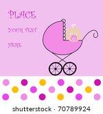 baby girl arrival announcement... | Shutterstock .eps vector #70789924