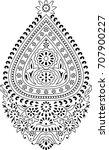 indian paisley motif | Shutterstock .eps vector #707900227