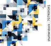 modern square geometric pattern ...   Shutterstock . vector #707909341