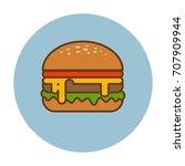hamburger icon. vector... | Shutterstock .eps vector #707909944