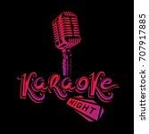 stage microphone vector... | Shutterstock .eps vector #707917885