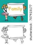 illustration of a children boy... | Shutterstock .eps vector #707923177