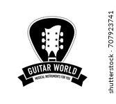 logo for musical instruments... | Shutterstock .eps vector #707923741