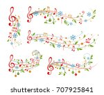 christmas decoration elements... | Shutterstock .eps vector #707925841