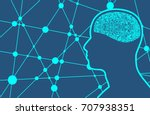 silhouette of a man's head.... | Shutterstock .eps vector #707938351