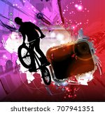 bicycle jumper | Shutterstock .eps vector #707941351