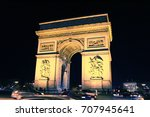 arc de triomphe in paris | Shutterstock . vector #707945641