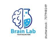 brain lab logo | Shutterstock .eps vector #707948149