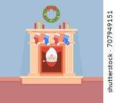 illustration of santa claus... | Shutterstock . vector #707949151