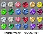 colorful round brilliant and... | Shutterstock .eps vector #707952301