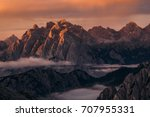 sunrise in dolomites  | Shutterstock . vector #707955331
