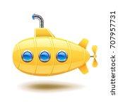 submarine isolated on white... | Shutterstock .eps vector #707957731
