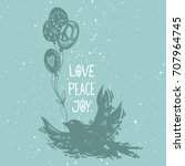 international peace day concept ... | Shutterstock .eps vector #707964745