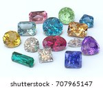 handful of various jewels on... | Shutterstock . vector #707965147