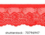 Red Lace With Pattern In The...