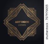 art deco frame background | Shutterstock .eps vector #707970055