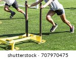 two cross country runners... | Shutterstock . vector #707970475