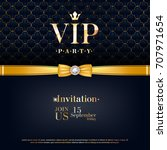 vip party premium invitation... | Shutterstock .eps vector #707971654