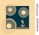 vector indian holiday postcard. ... | Shutterstock .eps vector #707974234
