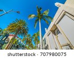 Small photo of Palm trees in Rodeo Drive, Beverly Hills. California, USA