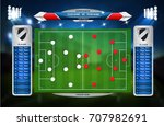 football or soccer playing... | Shutterstock .eps vector #707982691