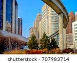 downtown detroit monorail mas... | Shutterstock . vector #707983714