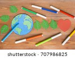 ecology concept  painting a... | Shutterstock . vector #707986825
