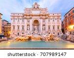 rome trevi fountain or fontana... | Shutterstock . vector #707989147