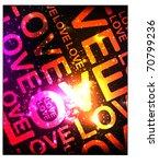 love glowing background | Shutterstock .eps vector #70799236